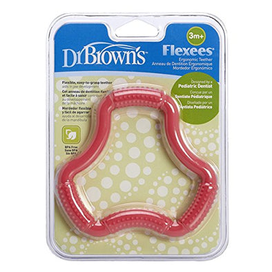 Dr Brown's Flexees Ergonomic Teether Red