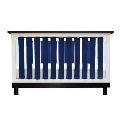 Vertical Crib Liners - Luxurious Navy Minky