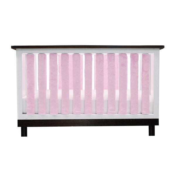 Vertical Crib Liners - Luxurious Pink Minky