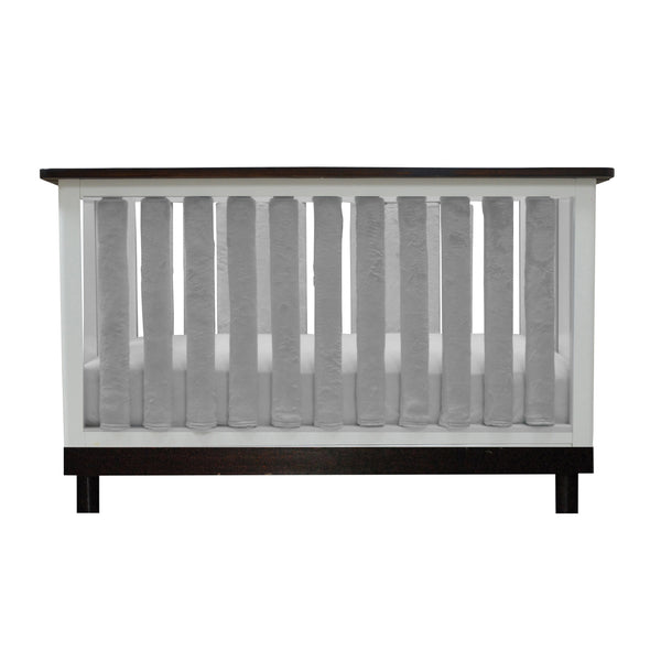 Vertical Crib Liners - Luxurious Grey Minky