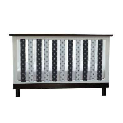 Vertical Crib Liners - Black & White Tribal