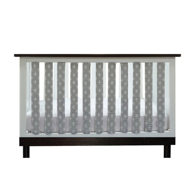 Vertical Crib Liners - Grey and White Tribal