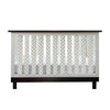 Vertical Crib Liners - Black and White Arabesque