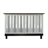 Vertical Crib Liners - Grey & White Arabesque