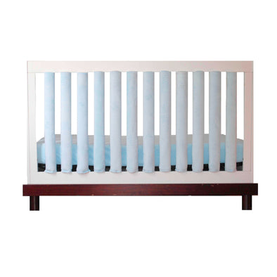 Vertical Crib Liners - Luxurious Baby Blue Minky