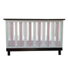 Vertical Crib Liners - Pink & White Arabesque