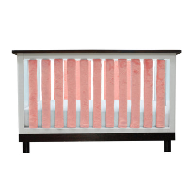Vertical Crib Liners - Luxurious Coral Minky