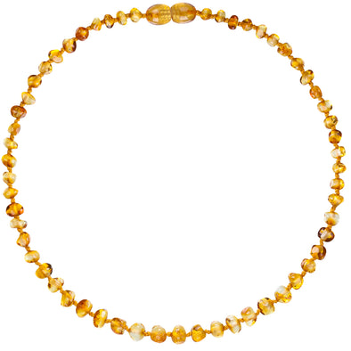 Baby Amber Bud Necklace (33cm, Honey)