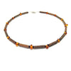 Teething Necklace - Hazelwood and Amber Teething, Pure Hazelwood