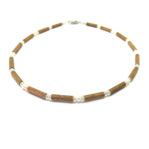 Teething Necklace - Hazelwood and Freshwater Pearls Teething, Pure Hazelwood