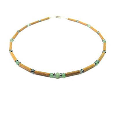 Teething Necklace - Hazelwood and Green Aventurine Teething, Pure Hazelwood