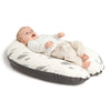 Doomoo Buddy Pregnancy and Feeding Pillow - Leaves Grey