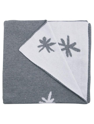 Cotton Blanket Star Reversible - Grey Baby Blanket, Babu
