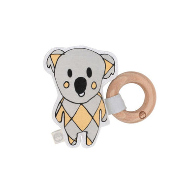 Banjo Kiplet - Grey Koala Rattle Teether, Kippins