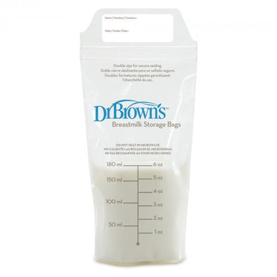 Dr Brown's Breast Milk Storage Bags - 25 Bags Breast Milk Storage Bags, Dr Brown's