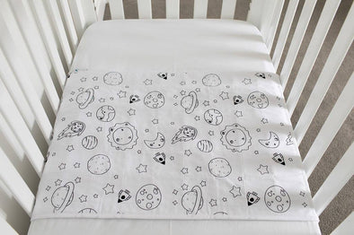 Cot Pad With Wings - Galaxy
