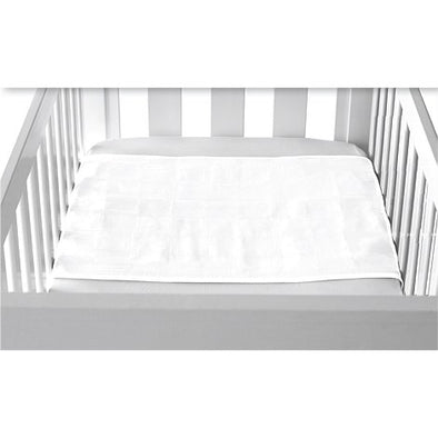 Cot Pad With Wings - White