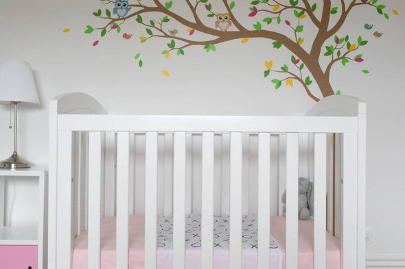 Cot Pad With Wings - Hugs and Kisses