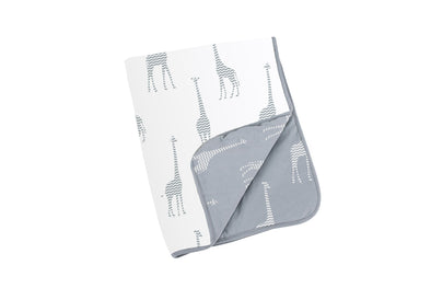 Doomoo Dream Cotton Blanket - Giraffe Grey
