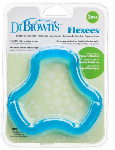 Dr Brown's Flexees Ergonomic Teether Blue