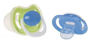 Dr Brown's Perform Dummy 2 Pack - Blue & Green - 2 sizes Dummies, Dr Brown's