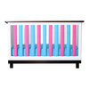 Vertical Crib Liners - Fuchsia and Turquoise Vertical Crib Liner, Go Mama Go