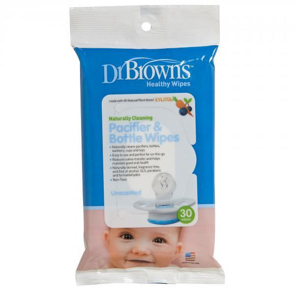 Dr Brown's Pacifier and Bottle Wipes - 30 Pack Pacifier and Bottle Wipes, Dr Brown's