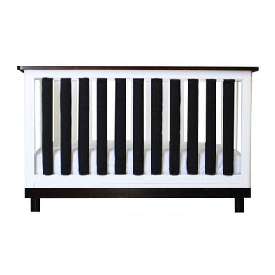 Vertical Crib Liners - Black and White Cot Bumper, Go Mama Go