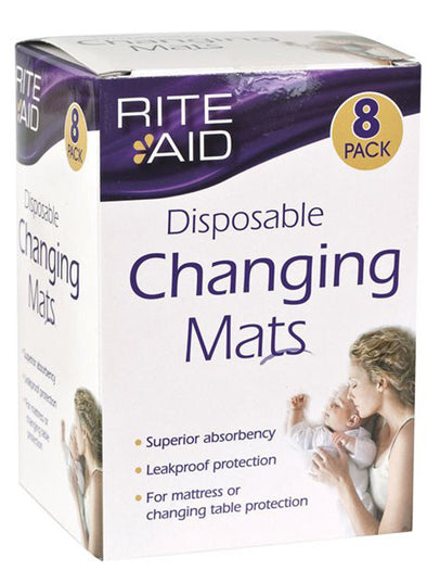 Disposable Change Mats - 8 Pack Baby Change Mats, Rite Aid