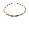Teething Necklace - Hazelwood, Rose Quartz & Baltic Amber Teething, Pure Hazelwood