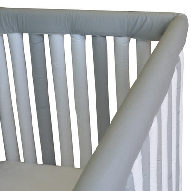 Reversible Cot Teething Guards - Grey & White