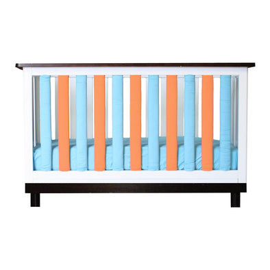 Vertical Crib Liners Orange/Turquoise 24 Pack
