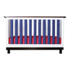 Vertical Crib Liners - Navy & White Cot Bumper, Go Mama Go
