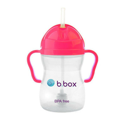b.box Sippy Cup - Neon Pink Pomegranate Sippy Cup, b.box