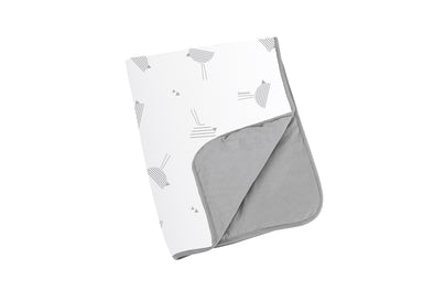 Doomoo Dream Cotton Blanket - Birds Grey