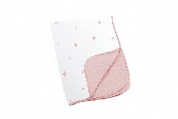 Doomoo Dream Cotton Blanket - Stars Pink