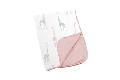 Doomoo Dream Cotton Blanket Giraffe Pink