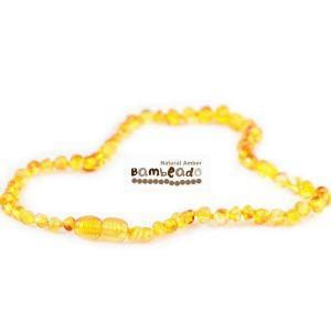Baby Amber Bud Necklace (33cm, Honey) Teething Necklace, Bambeado