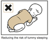 Sleepwrap to help prevent tummy sleeping