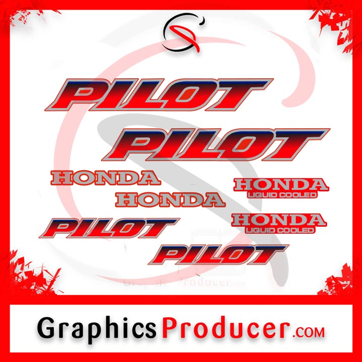 Honda Pilot FL400R FL400 89-90 Sticker Decals Tub & Body Mark Emblem Full  Set