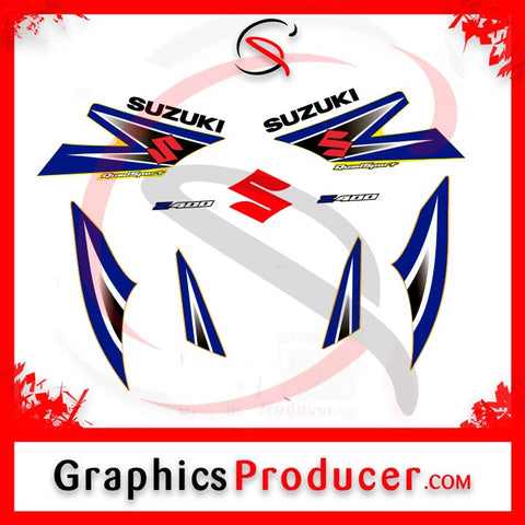Suzuki Rv90 Decal Emblem Sticker Left and Right New Reproduction Blue
