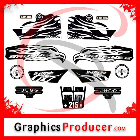 Yamaha Raptor 700 Replica Decals Orange Graphics Kit Stickers Reproduction Set
