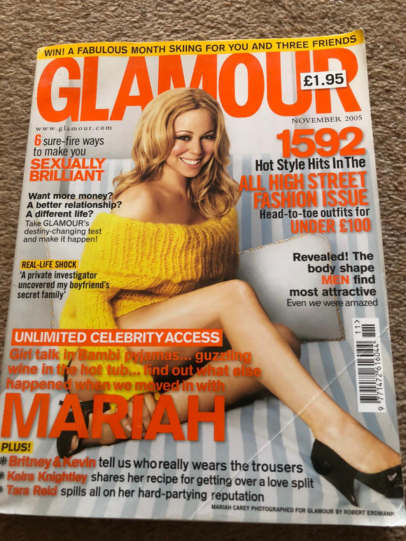 British GLAMOUR November 2005 MARIAH CAREY