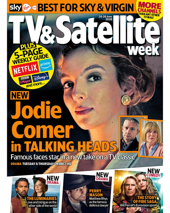 TV & SATELLITE Magazine June 2020 JODIE COMER Talking Heads MATTHEW RHYS