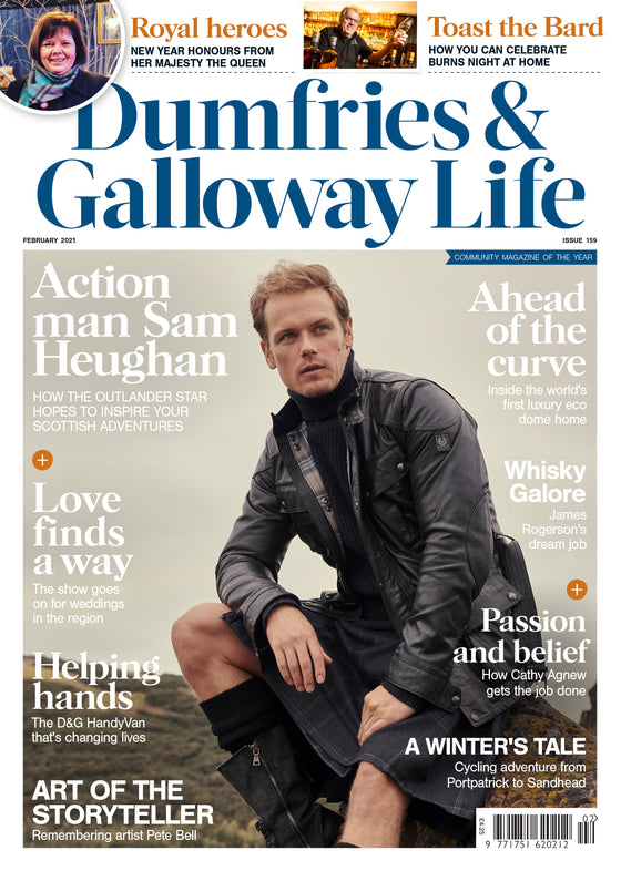 Dumfries & Galloway Magazine February 2021: Sam Heughan Cover