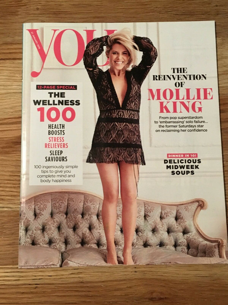 UK YOU Magazine January 2019: MOLLIE KING - THE SATURDAYS COVER AND FEATURE