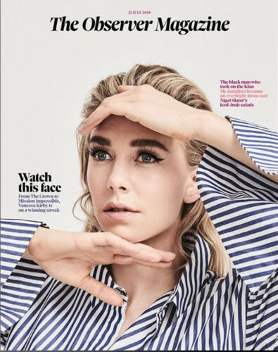 OBSERVER magazine July 2018: Vanessa Kirby (The Crown) Cover Interview