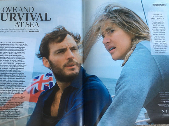 UK Stella Magazine June 2018: Sam Claflin & Shailene Woodley Adrift