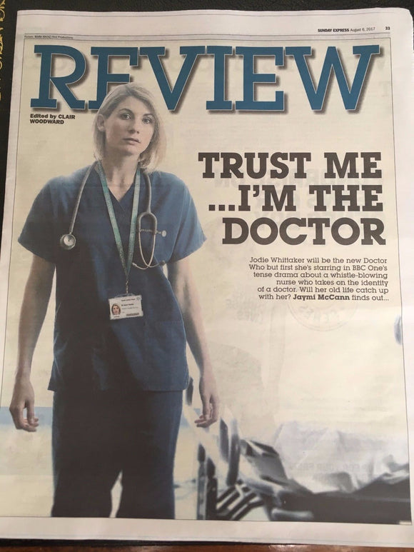Jodie Whittaker New Doctor Who Photo Cover August 2017 Uk Express Review