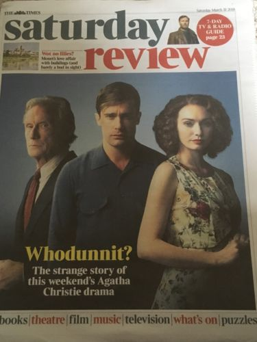 UK Times Review March 31 2018: BILL NIGHY Tobias Menzies ELEANOR TOMLINSON